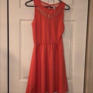 Xhilaration Textured Mesh Fit & Flare Dress